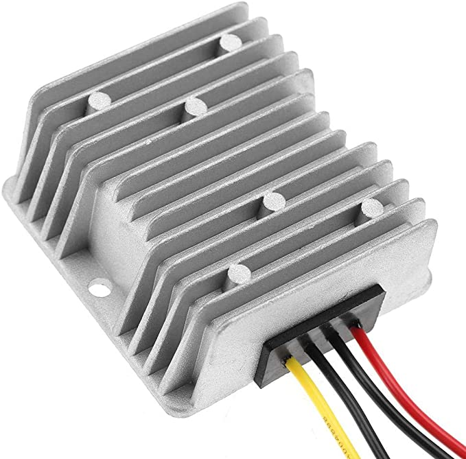 ZHITING Regulador del convertidor de Potencia de CC a Prueba de Agua DC 12v Step Up a 24V 3A 72W M/ódulo de regulador de Voltaje del convertidor a Prueba de Agua para Motor Car Truck Veh/ículo Barco
