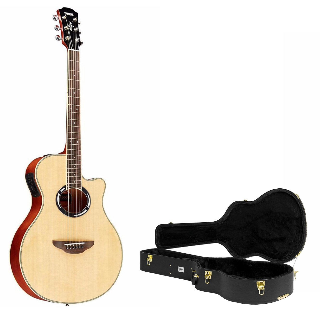 Yamaha APX500III Acoustic/Electric Natural Guitar with Knox Hardshell Case