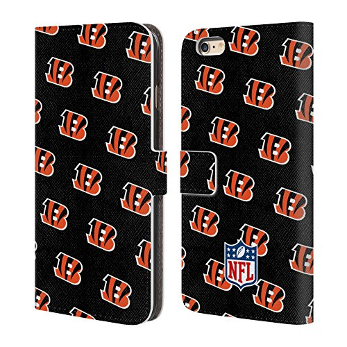 Official NFL Patterns 2017/18 Cincinnati Bengals Leather Book Wallet Case Cover for iPhone 6 Plus/iPhone 6s Plus - Cincinnati Bengals Book Cover