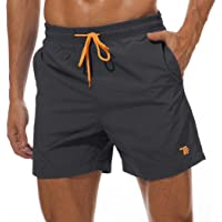 YSENTO Mens Waterproof Quick Drying Swim Trunks Beach Shorts with Mesh Lining