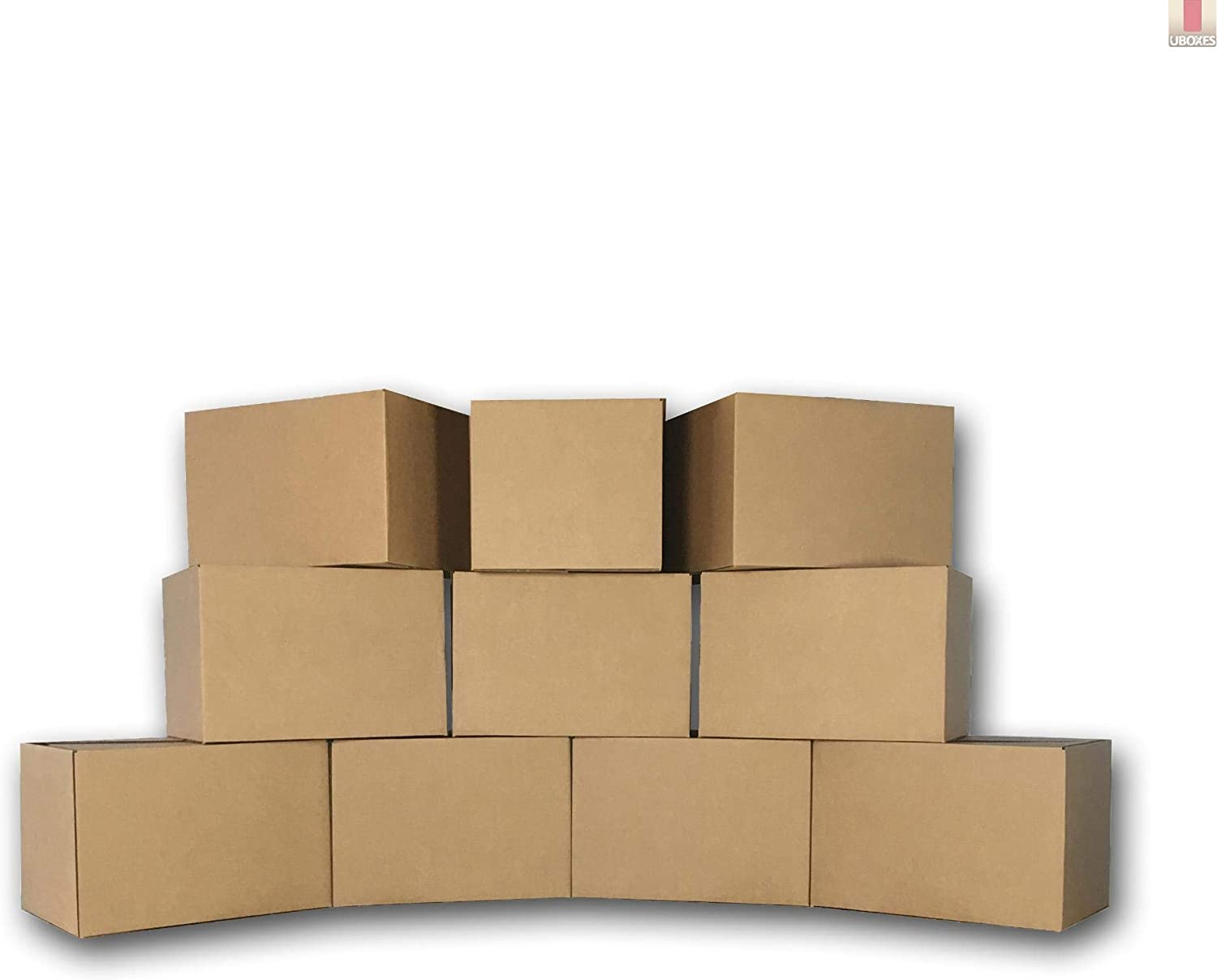 10 Medium Moving Boxes 18x14x12 Packing Cardboard Boxes 61BC2BjOugCL