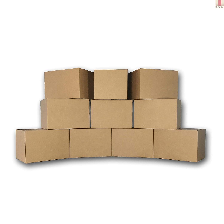 uBoxes Medium Moving Boxes, 18 x 14 x 12 inch, 10 Pack, Cardboard Box (BOXMINIMED10)