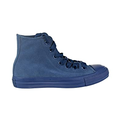 758ba4401002 Converse Chuck Taylor All Star Hi Big Kids  Men s Shoes Blue Fir Suede  162463c