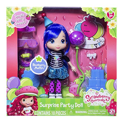 The Bridge Direct, Strawberry Shortcake, Surprise Party Doll, Blueberry Muffin, 6 Inches (Strawberry Shortcake Hat)