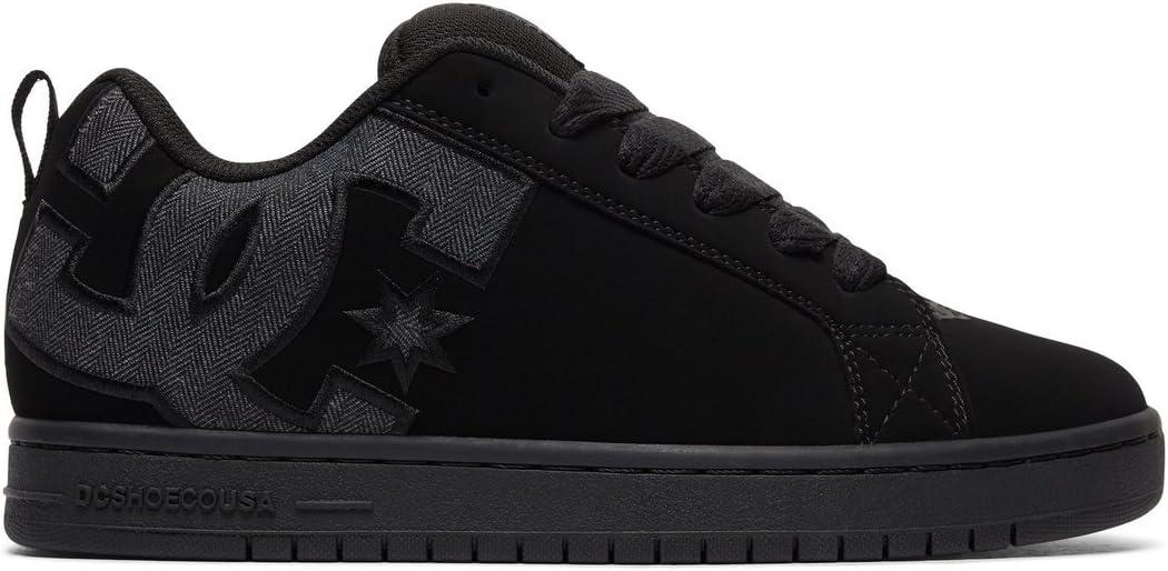 DC Men s Court Graffik SE Skate Shoe, Black Heather Grey, 13 D D US