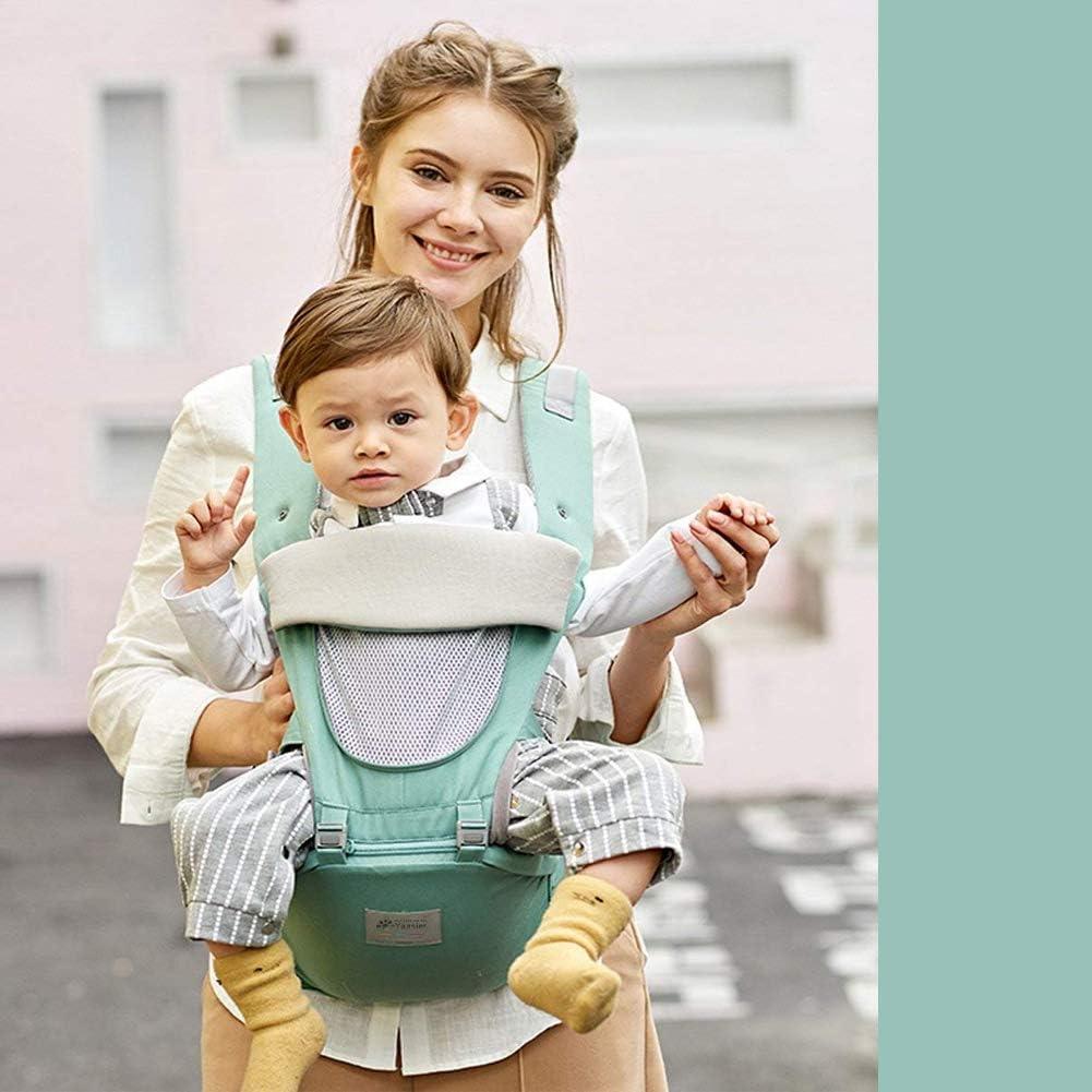 Cappuccio per La Testa Marsupio Neonati Bavaglini Disponibile in tutte le stagioni Marsupio Bambino Ergonomico 12 in 1 Leggero Traspirante Baby Carrier con Sedile Anca Antiscivolo