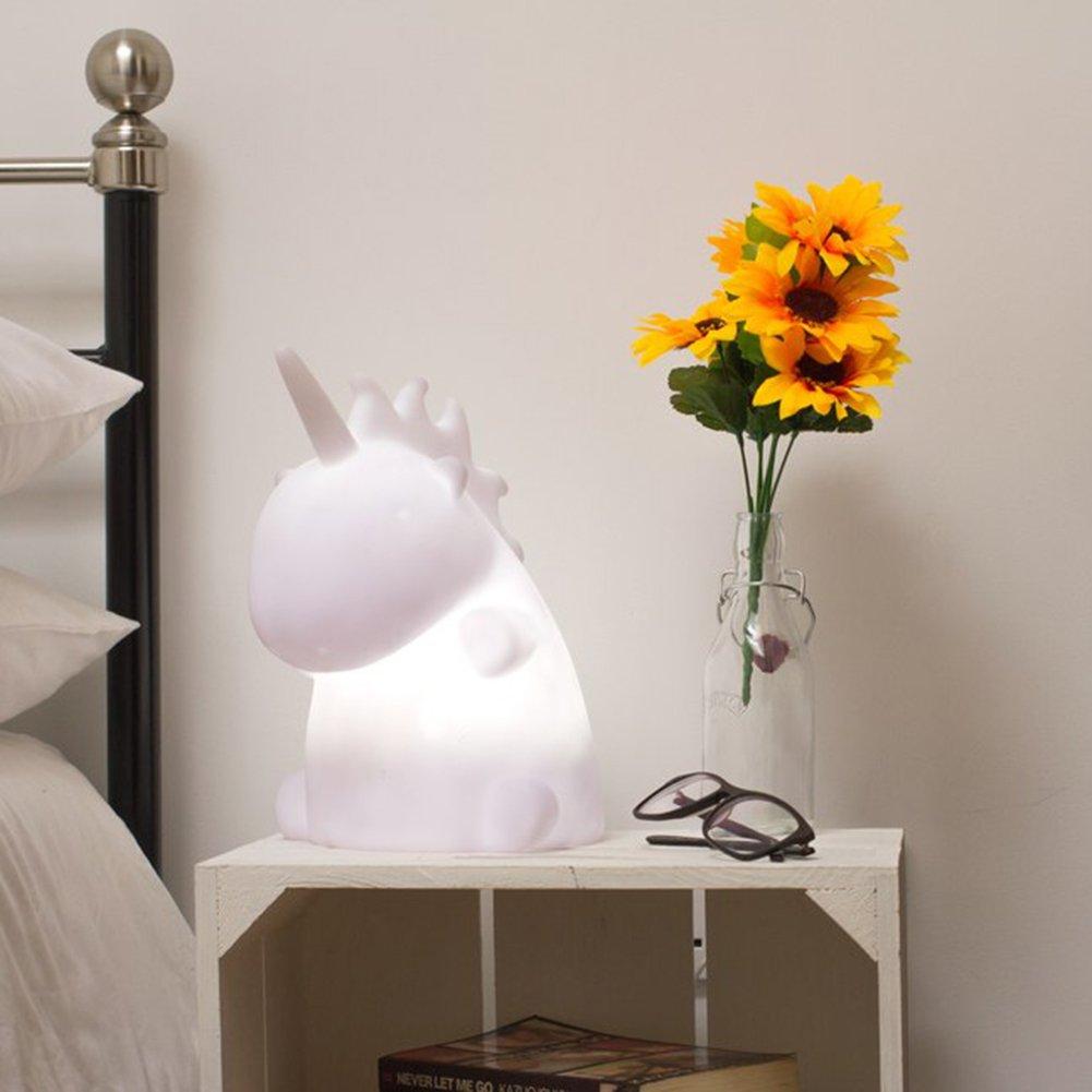 Einhorn Mehrfarbige Leuchte Mehrfarbige Einhorn Nachttischlampe 16 wechselnde LED-Farben - Uni the Unicorn Multicolor 34e21a