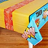 BirthdayExpress Superhero Comics Party Supplies - Plastic Table Cover