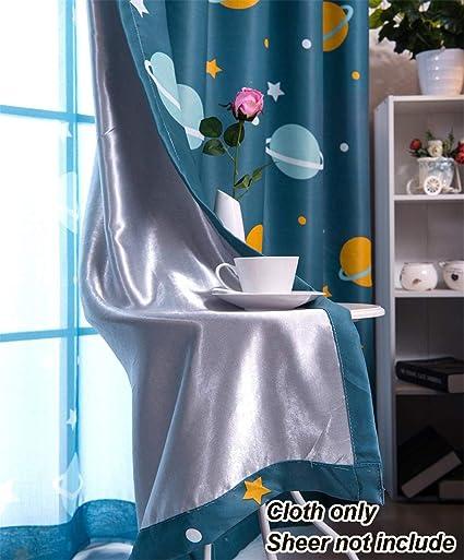 Amazon.com: WPKIRA Kids Room Decor Stars Planet Printed Custom Room ...