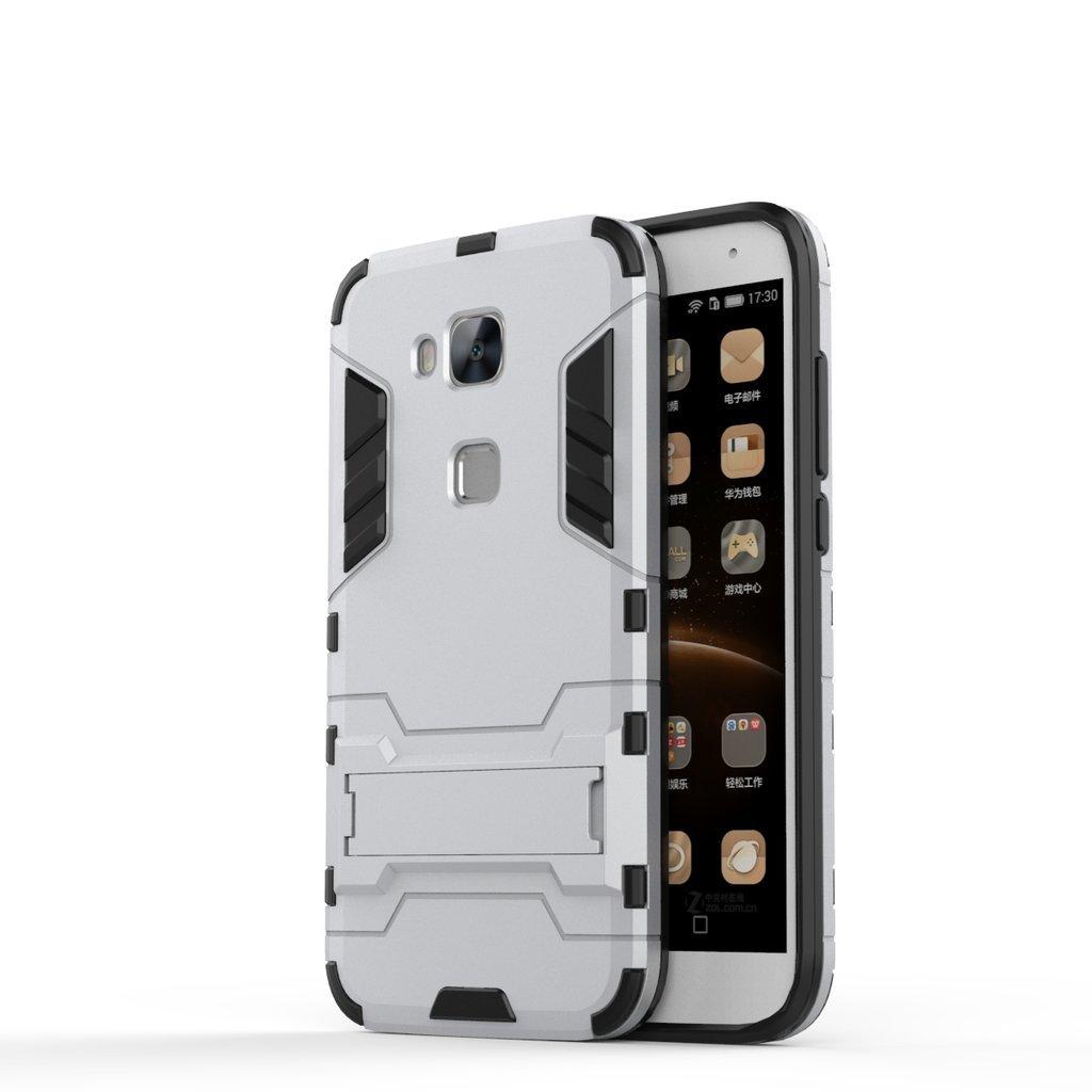 Light Blue LTWS 2 in 1 Hybrid Heavy Duty Armor Hard Back Coque Housse avec kickstand pour Huawei Honor 5C Coque Huawei Honor 5C