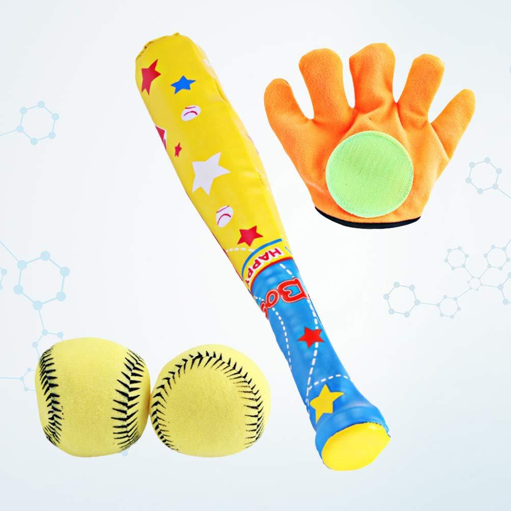 Toyvian Gant de Sport de Loisirs de Base-Ball de Jouets de Jouets de 4pcs et Le Jouet Mou de Boule Ont placé pour des Cadeaux d'enfant d'enfant de bébé