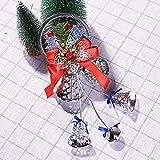 Pgojuni Christmas Bell Hanging Ornaments Wooden Santa Claus Xmas Tree Pendant Decor Holiday Decoration 1PC (F)
