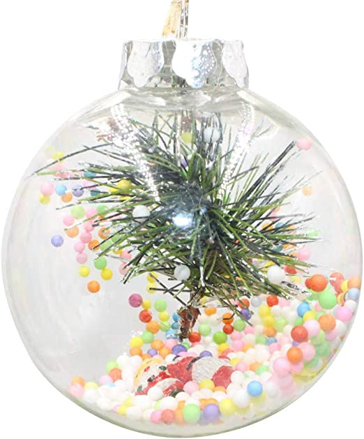 5-50pcs Christmas Clear Glass DIY Xmas Tree Hanging Baubles Ball Ornament 7//10cm