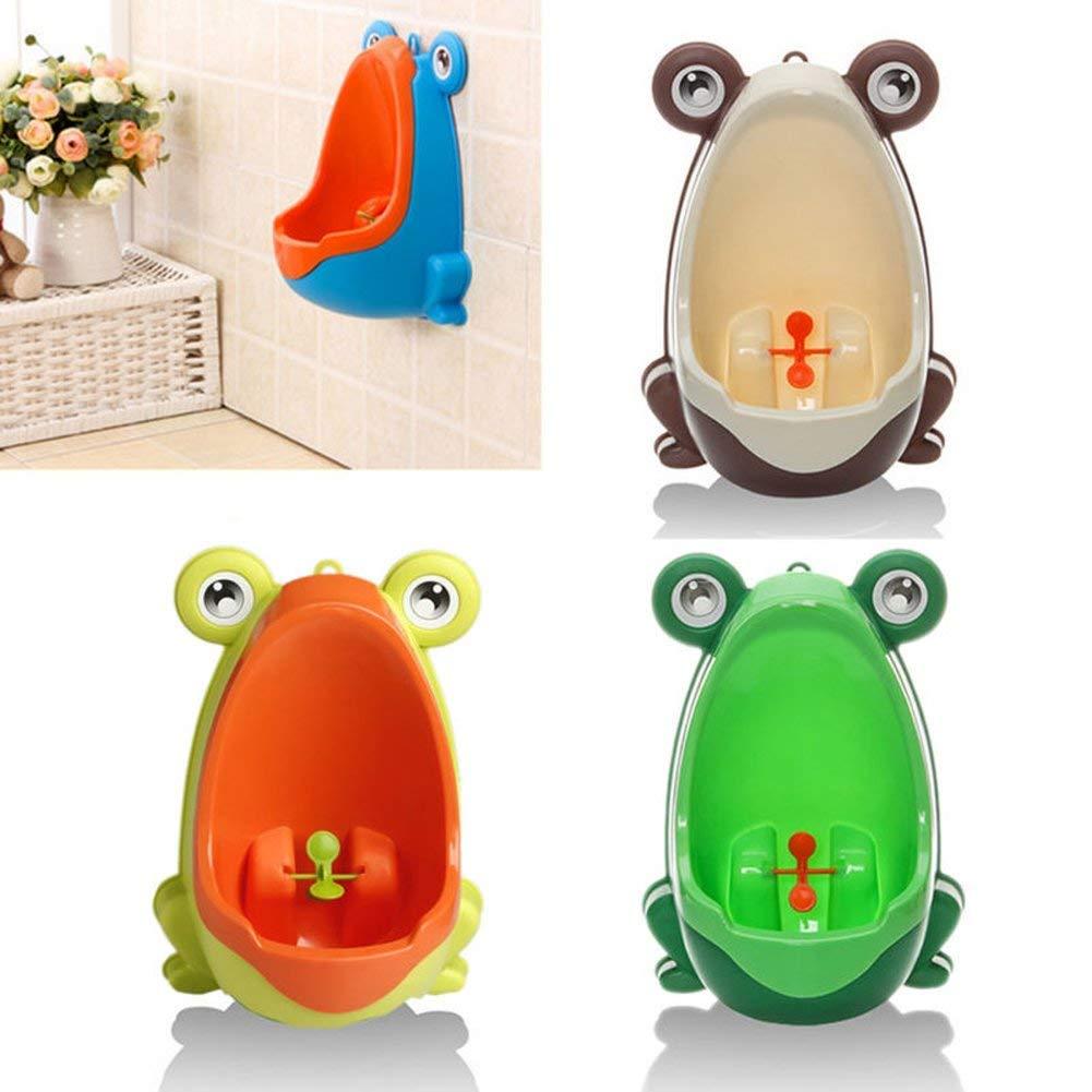f/ür Kinder kaffeebraun Kinder-Urinal mit Frosch-Motiv