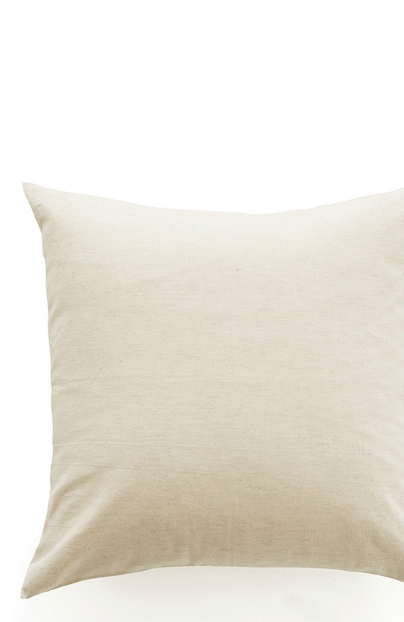 HOMEE Dyed Cotton Cushion Pillow Block Stripe with Pillow-Sofa Cushion Seat Lumbar Support on Package Square ,45X45Cm, M White,M White,45X45cm