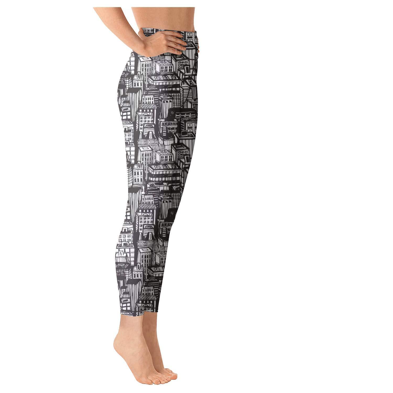 I Love NY New York Logo Pretty Women Yoga Clothes Pants Leggings Outdoor Fold Over