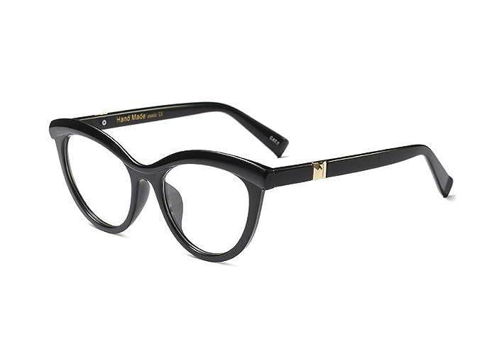 Amazon.com: Allt Vintage Cat Eye Optical Eyewear Half Tinted Frame ...