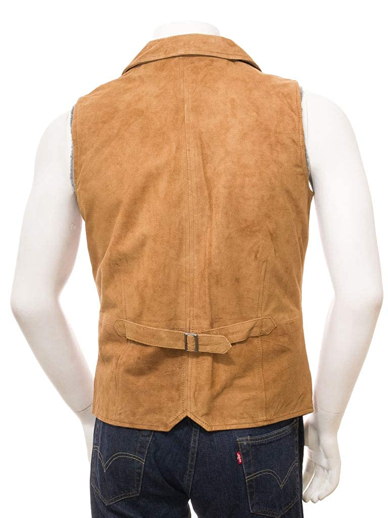 Ennovative Selection Mens Tan Suede Waistcoat