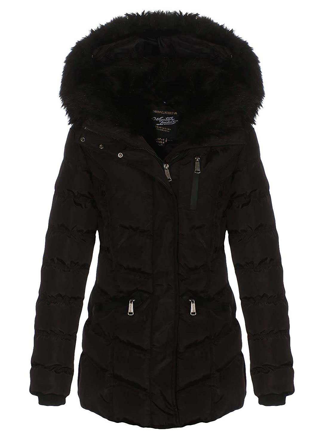 Geographical Norway Doctor Lady Parka d'hiver pour Femme Noir