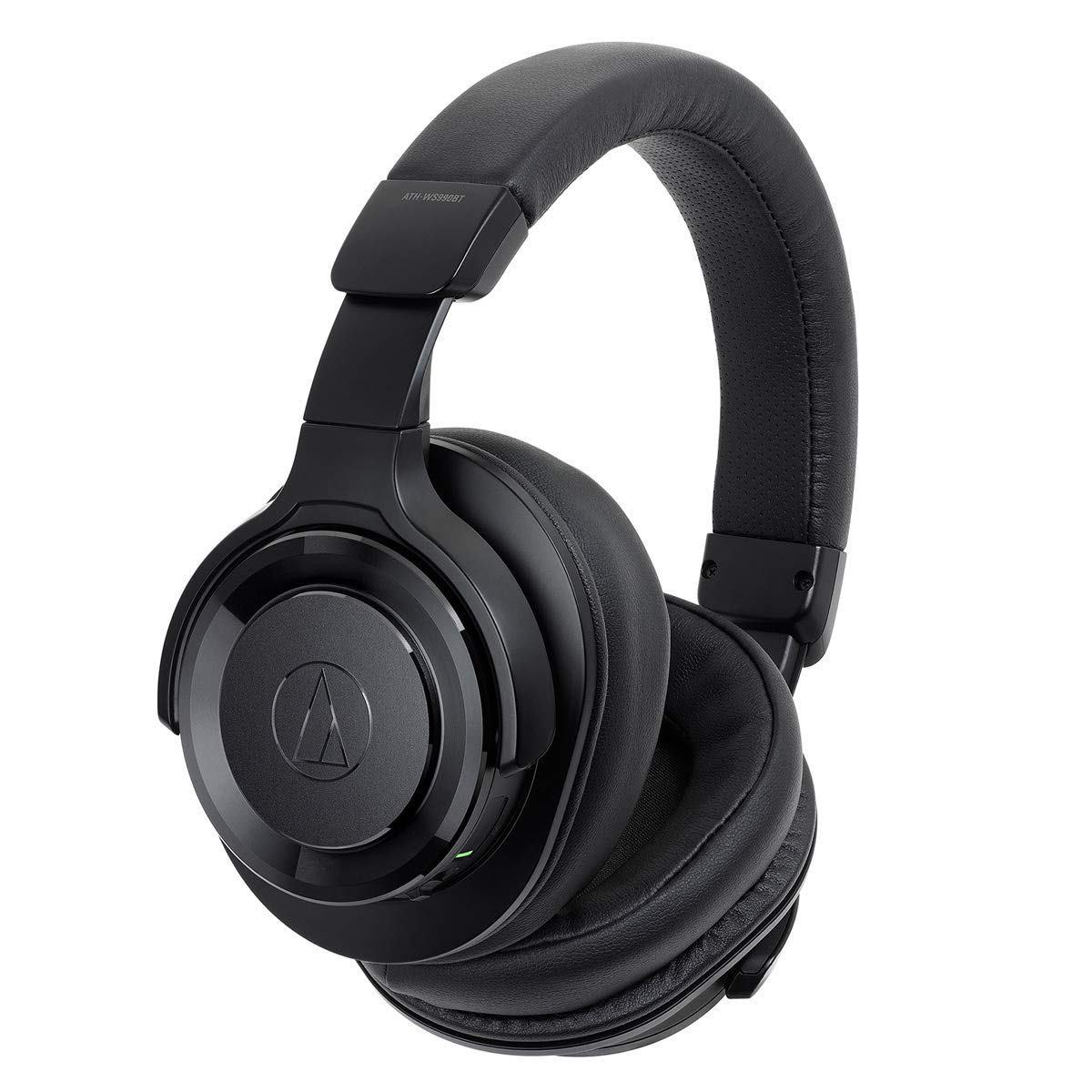 AudioTechnica ATH-WS990BT Wireless High-Resolution Noise-Cancelling Over-Ear Headphones with Built-in Microphone and Control (Black)