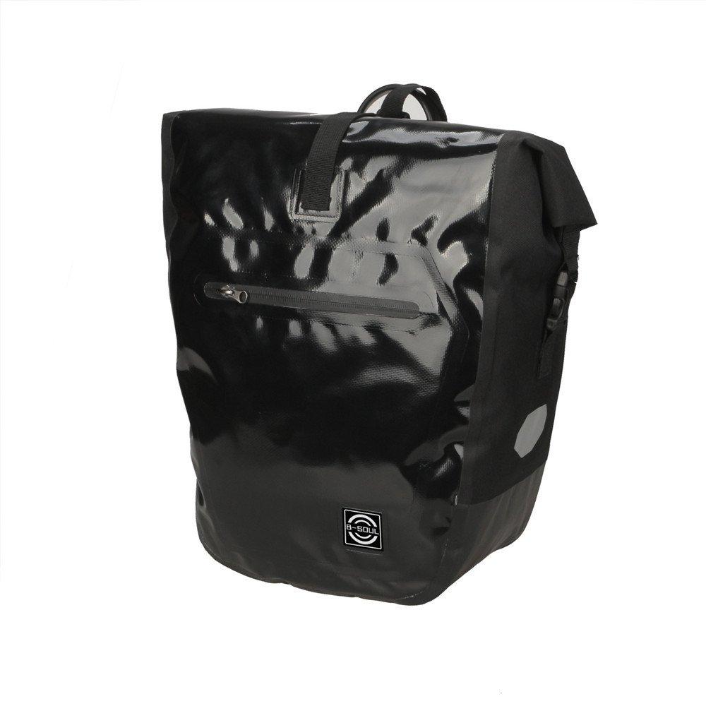 自転車フレームバッグ 自転車パニエトランクバッグ、大容量防水自転車リアシートパニエフィット 防水電話ホルダー (色 : ブラック, サイズ : 2 pcs) 2 pcs ブラック B07PCMJFQT