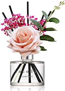 Cocod'or Rose Flower Reed Diffuser/Lovely Peony / 6.7oz(200ml) / 1 Pack/Reed Diffuser Set, Oil Diffuser & Reed Diffuser Sticks, Home Decor & Office