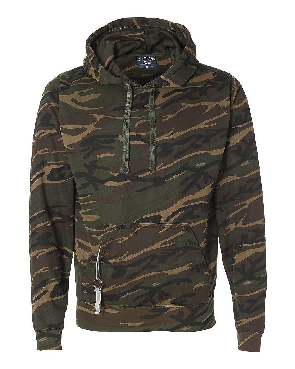 America Mens Tailgate Poly Fleece Hooded Pullover Sweatshirt 8615 J