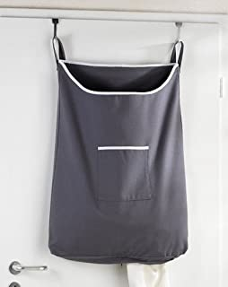 Bon Space Saving Hanging Laundry Hamper Bag With Free Door Hooks   By The Fine  Living Co