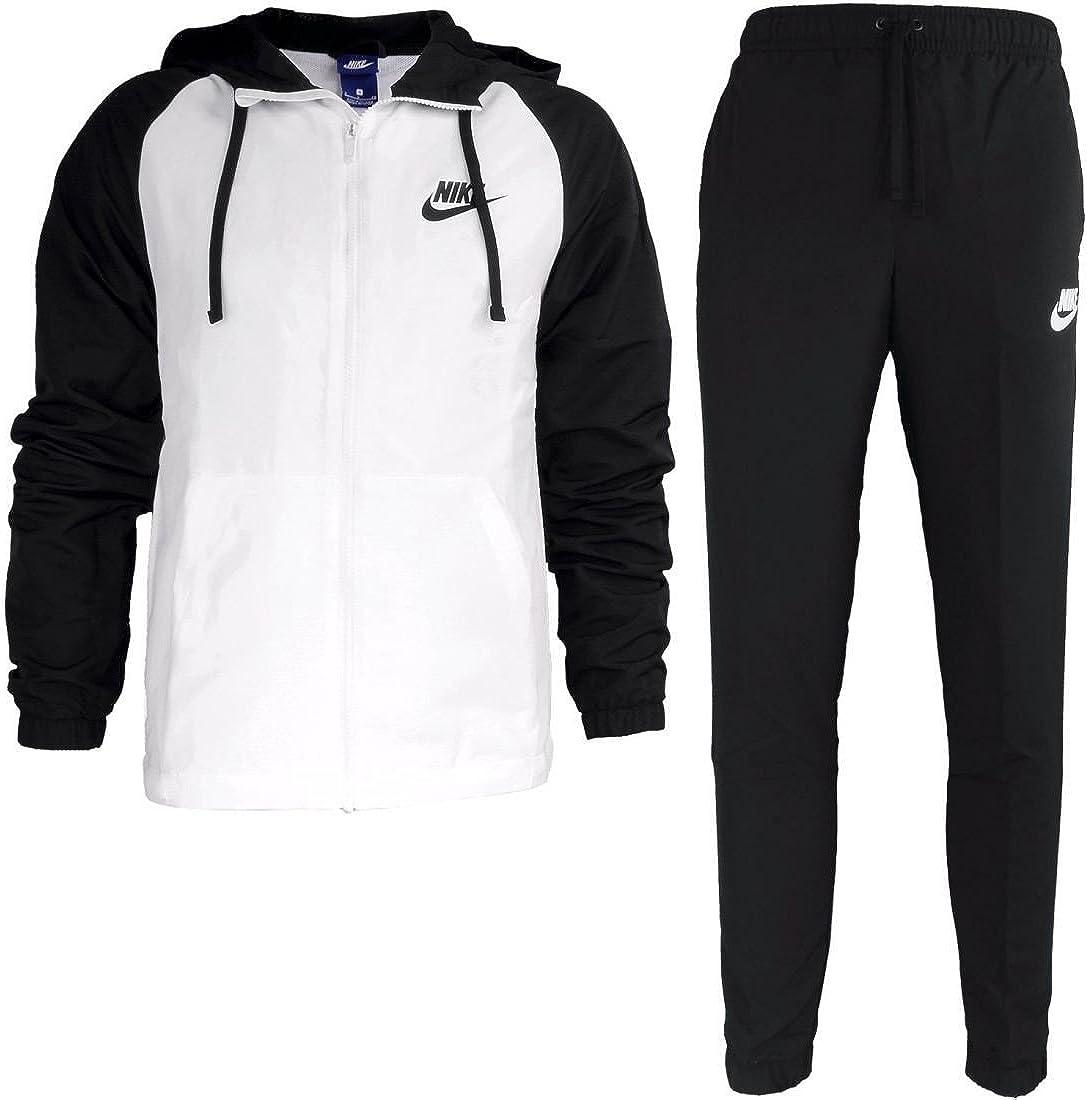 Nike M NSW TRK Suit HD Wvn Chándal, Hombre, (Negro/Blanco), 3XL ...