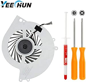 YEECHUN Replacement Internal CPU Cooling Fan for Sony PlayStation 4 PS4 CUH-1001A 500GB KSB0912HE Series + Tool Kit