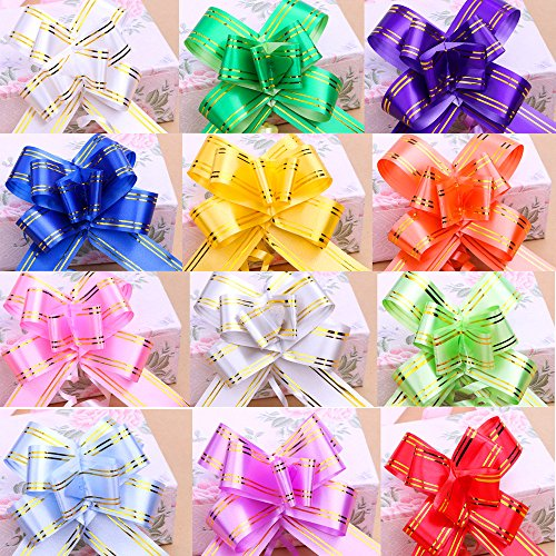 CellCase 100pcs Assorted Color Gift Pull Bows Gift Wrap Ribbons