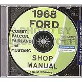 1968 ford shop service repair manual with decal cougar falcon 1968 cd repair shop manual mustangfairlanefalconfairlanemontegocougar asfbconference2016 Choice Image