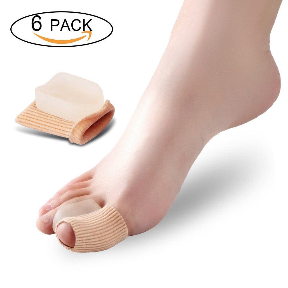 Goworth 6 Pack Toe Separators - Hallux Valgus Corrector Bunion Corrector - Toe Protectors,Toe Alignment pads,Hammer Toe Straightener - For Men & Women