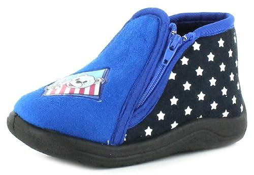 Wynsors - Zapatillas de estar por casa para niño, color azul, talla 24: Amazon.es: Zapatos y complementos
