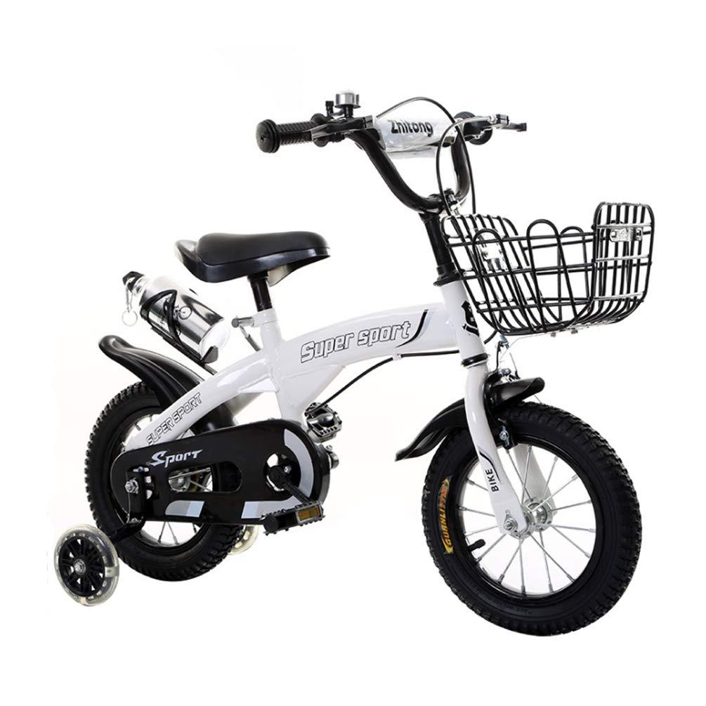 blanco XGYUII Bicicleta Infantil para niños, niñas, niños, Bicicletas, 12 , 14 , 16 , 18 , Botella de Agua, Equipo de Seguridad para niños