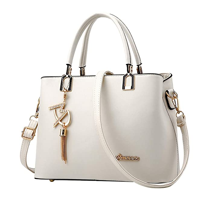 92dea3484bce94 MOIKA Sale Günstig Elegante Stylische Damen Tasche einfache Handtasche  Schultertasche große Tasche Umhängetasche(E,