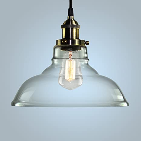Pendant Light Hanging Glass Ceiling Mounted Chandelier Fixture ...