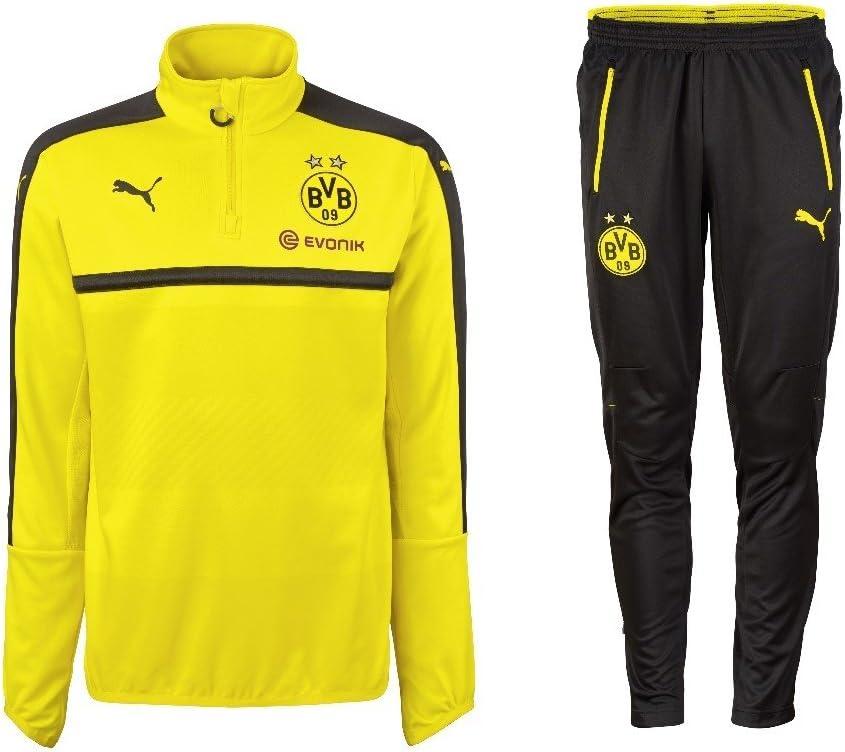 Borussia Dortmund Puma Chándal con Half Zip 2016/2017, Hombre ...