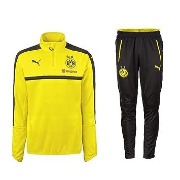 Borussia Dortmund Puma Chándal con Half Zip 2016 2017 d0f074873d2fe