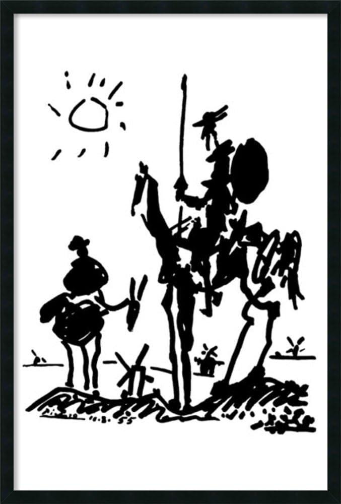 Framed Wall Art Print   Home Wall Decor Art Prints   Don Quixote by Pablo Picasso   Modern Decor Framed Art Print 25.25 x 37.25 in.