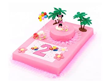 Tortendeko 2 Geburtstag Minnie Mouse Tortenaufleger 12 Teilig Kuchen