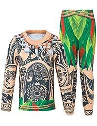 AmzBarley Maui Kids Boys Pajamas Set Clothes Cosplay Sleepwear Moana