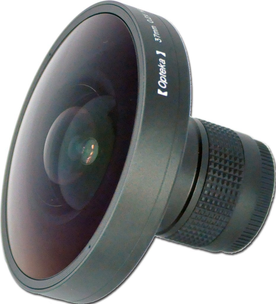 Opteka Platinum Series 0.2X HD Panoramic Vortex 220Deg Fisheye Lens for Panasonic HDC-SD10, HDC-TM10, HDC-TM15, NV-GS27, VDR-D100, VDR-D105, VDR-D200, VDR-M30 and VDR-M75 Digital Camcorders by Opteka
