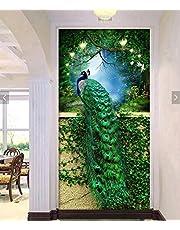 (Green) - Faraway Peacock 5D DIY Crystal Diamond Rhinestone Painting Pasted Paint by Number Kits Animal Full Diamond Mosaic 40x60cm (Green)