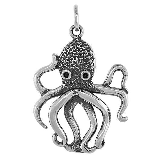 Amazon sterling silver octopus pendant 1 14 inch tall jewelry sterling silver octopus pendant 1 14 inch tall mozeypictures Choice Image