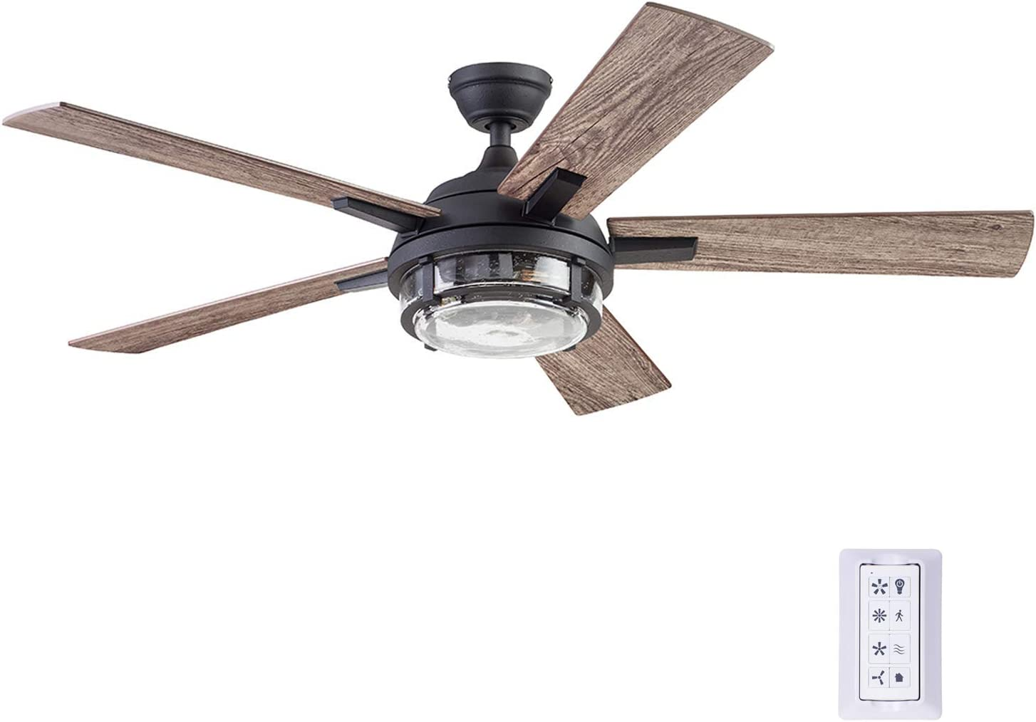 Prominence Home 51484-01 Freyr Ceiling Fan, 52, Heavy Textured Black