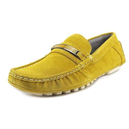 Calvin Klein Damion - Mocasines de ante para hombre amarillo amarillo Taglia scarpa amarillo Size: 44: Amazon.es: Zapatos y complementos