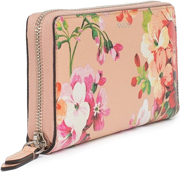 94463ec5d387 Amazon.com: Gucci Shanghai St Beige Blooms Apricot Leather ...