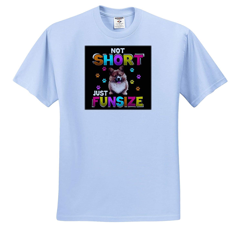 Not Short Just Funsize Welsh Corgi Dog ts/_316124 3dRose Sven Herkenrath Dog Adult T-Shirt XL