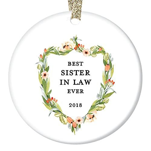 Amazon.com: Sister In Law Gifts, Sister-in-law Christmas Ornament ...